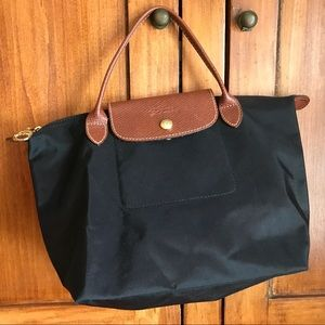 Like new LONGCHAMP black tote BAG France pliages